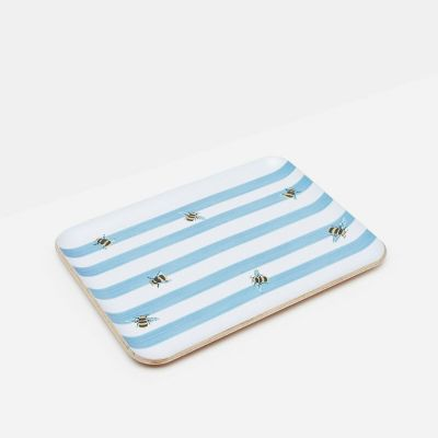 Joules Bee Stripe Small Serving Tray 27 x 20cm