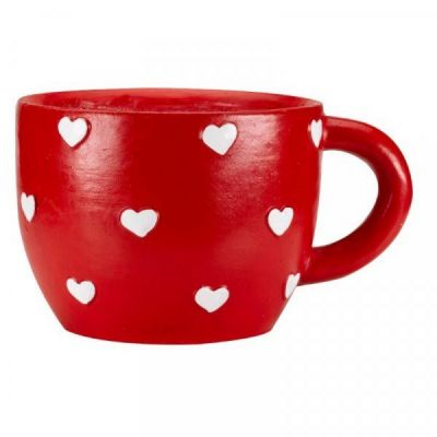 Hearts Teacup Planter
