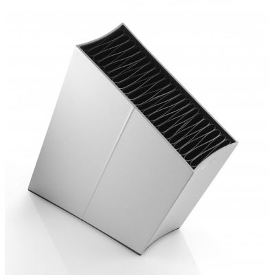 Angled Aluminium Knife Block Stand in Silver for up to 40 Knives