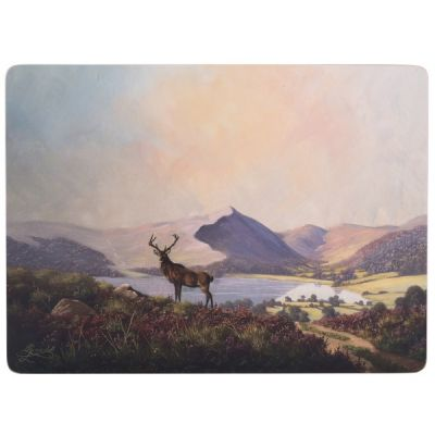 Highland Stag Set of 6 Medium Premium Placemats Table Mats