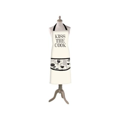 Stir It Up Kiss The Cook 100 % Cotton Adult Apron with Front Pocket