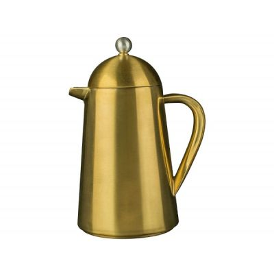 8  Cup Thermique Double Walled Cafetiere in Brushed Gold