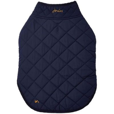 Rosewood Large Joules Dog Quilted Dog Pet Coat In Navy