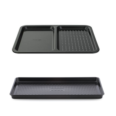 Non-Stick large Baking Oven Tray 2 Piece Set | Large Tray and Split Tray