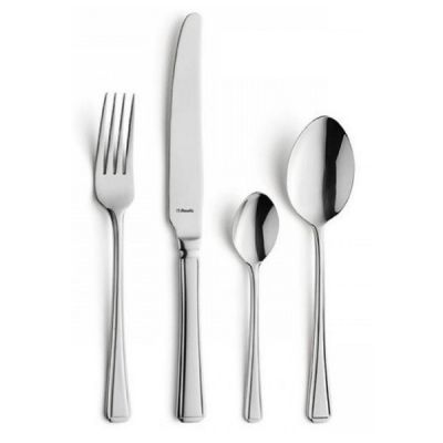 Modern Harley Polished Stainless Steel Cutlery Set 24 Piece