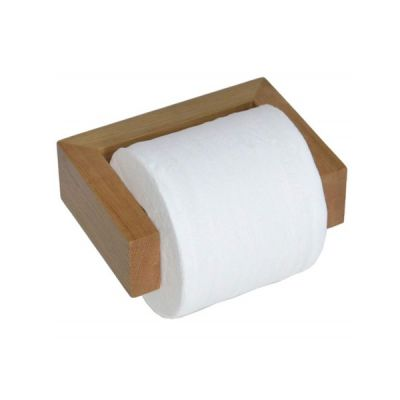 Wooden Toilet Roll Holder in Natural Oak Water Resistant Coating American Oak Designed by Lincoln Rivers