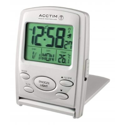 Vista MSF Radio Controlled Multi Functional LCD Travel Alarm Clock