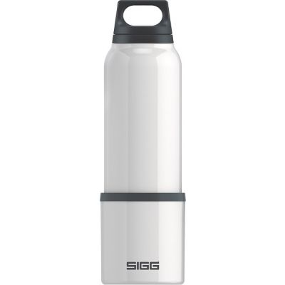 Insulated Thermo Bottle in White 0.75L with Drinking Cup