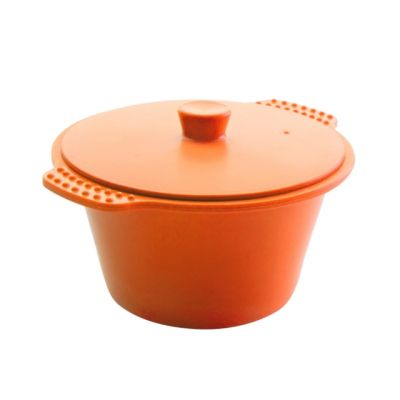 Pudding Mould Orange with Lid in Silicone 1.2L