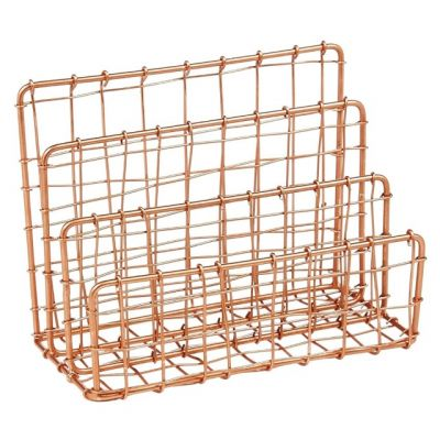 Cabo Copper Letter Holder in Woven Wire