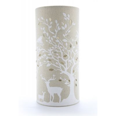 Deer and Birds Design Lamp, Light-Glow Electric Table Lamp