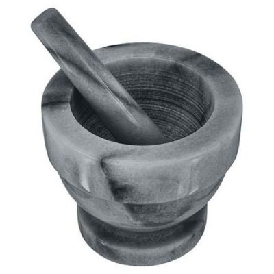 Grey Marble Mortar and Pestle, Small