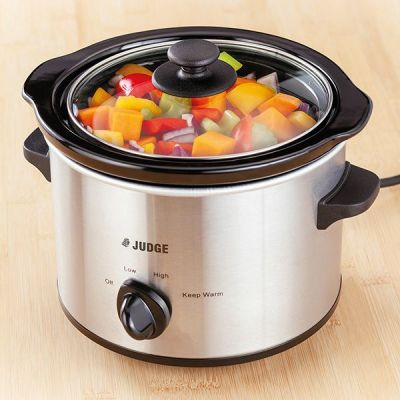 Electric Slow Cooker, 1.5L, 120W Round Shape