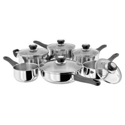 Vista Stainless Steel 6 Piece Saute and Casserole Pan Set