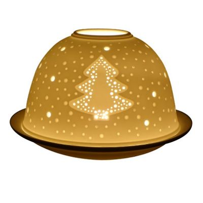 Christmas Tree with Stars, Light-Glow Tealight Candle Holder
