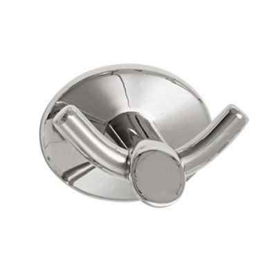 Oblique Double Robe Hook, Stainless Steel