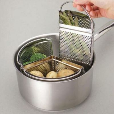 Saucepan Divider 18cm Baskets in Stainless Steel Set of 3