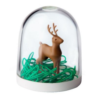 Qualy Deer in the Forest Clip Holder with Clips in White