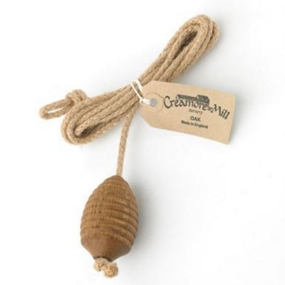 Oak and Rope Light or Fan Switch Pull, Beehive