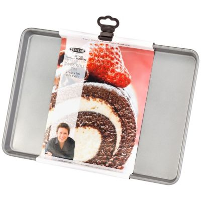 Bakers Dozen Stellar Bakeware Swiss Roll Baking Tin Tray, 34cm