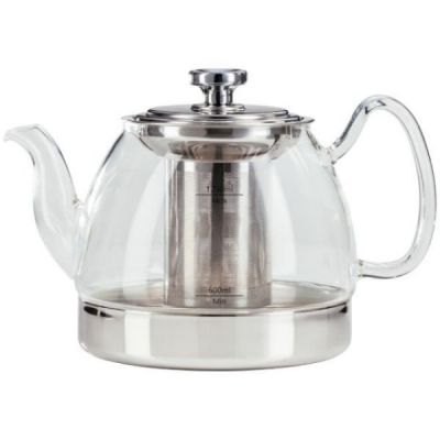 Hob Top Glass Teapot with Infuser for ALL Hob Types, 1.2L