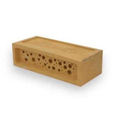 Bee Brick in Yellow Solitary Bee House by Green & Blue