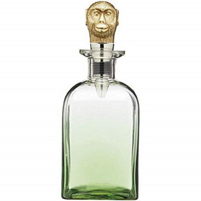Tropical Glass Alcohol Drinks Decanter with Monkey Air Tight  Stopper
