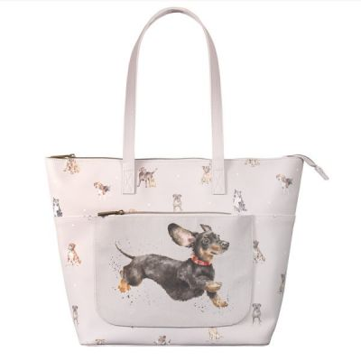 Women's Shoulder Bag in 'A Dog's Life' Design