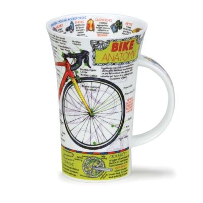 Educational Bike Anatomy Mug Cup 16.9 fl oz Glencoe Fine China