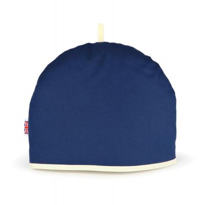 blue tea cosy made by Muldale in Britain