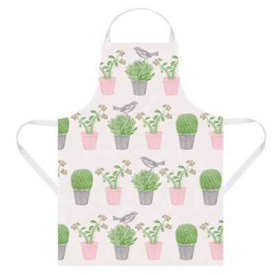 Cactus and Bird Kitchen Apron made from Cotton