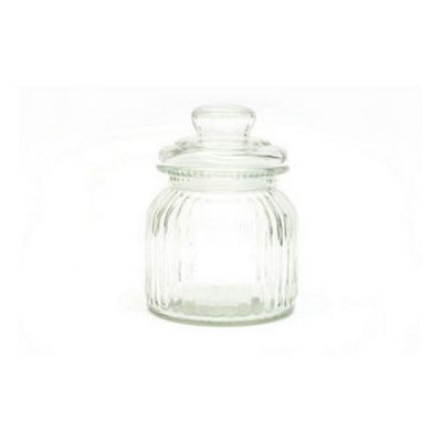 Clear Glass Candystore Canister Sweet Jar 650ml