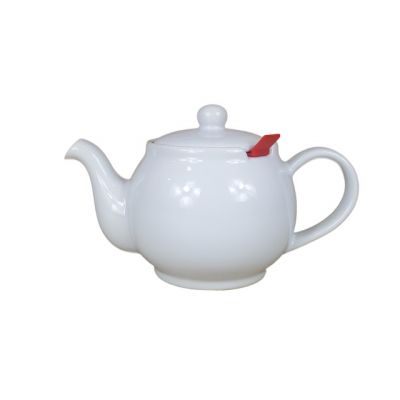 White 2 Cup Filter Teapot