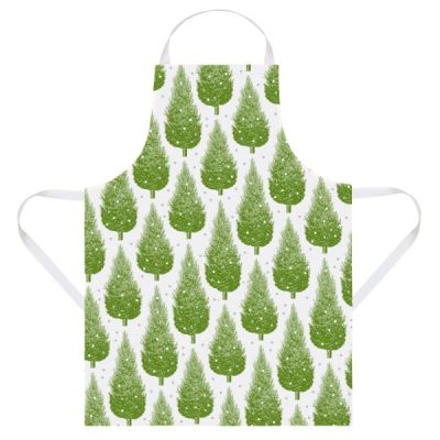 Kitchen Apron in Christmas Tree Design made from Cotton