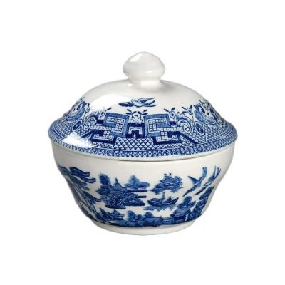 Blue Willow Georgian Covered Sugar Bowl
