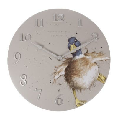 Duck Illustrated Wall Clock by Hannah Dale