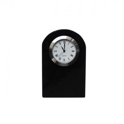 Small Black Onyx Dome Crystal Clock 10cm