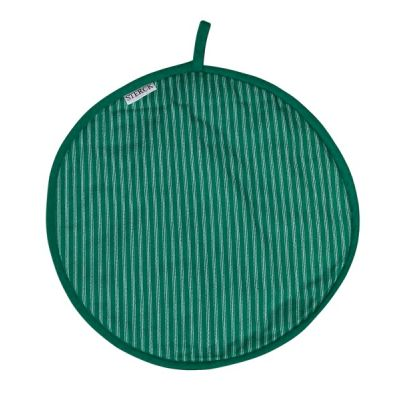 Sterck Cotton Stripe Cook Pad Hob Aga Cover, Green