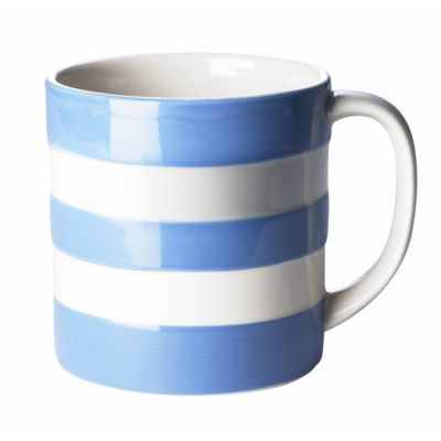 Blue & White Stripe Stoneware Large Mug, 15oz