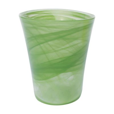 Orchid Pot in Lime, Flared Glass 14.5cm