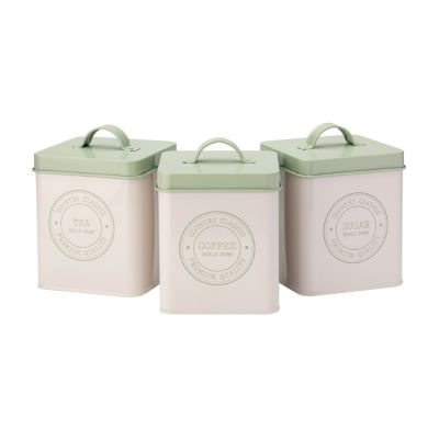 Vintage Edale Tea Coffee Sugar Canisters