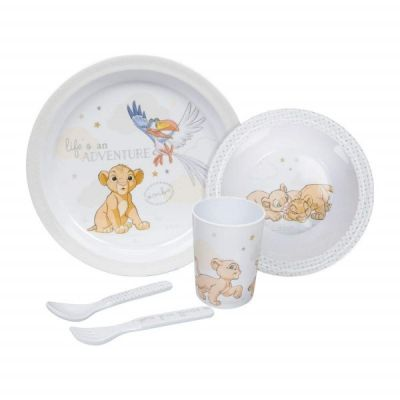 Simba Lion King Dinner Gift Set 5 Piece Melamine Plate, Bowl Cutlery & Cup