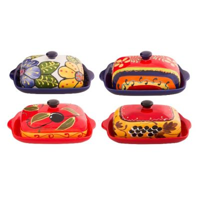 Butter Dish Spanish Collection, Various Colours