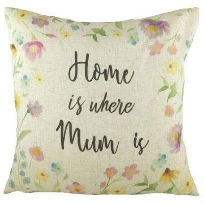 """"""" Home is Where Mum Is Printed Filled Cushion """"  43cm"""