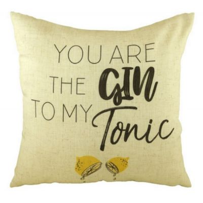 """You Are the Gin to my Tonic"" Printed Filled Cushion 43cm"
