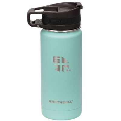 Vacuum Bottle 355ml with Roaster Loop Cap in Aqua Blue from Earthwell
