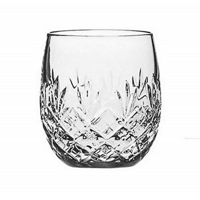 Edinburgh Hand Cut Glass Whisky Barrel Tumbler Glass 240ml 8oz