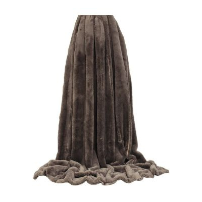 Empress Velvet Lined Throw in Taupe