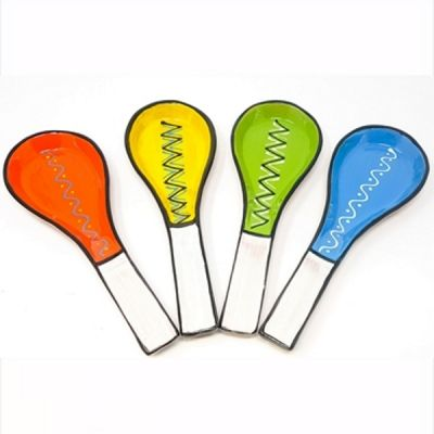 Spoon Rest Hand Painted Assorted Colours from the Fiesta Range