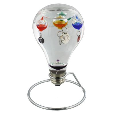 Light bulb Shaped Galileo Thermometer stand